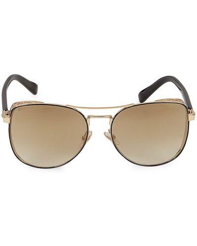 Солнцезащитные очки металлические - золотые Jimmy Choo