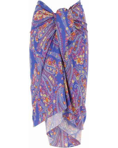 Niebieska spódnica z wiskozy Etro