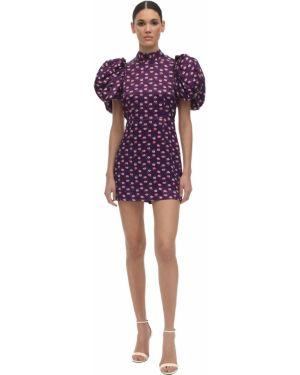 Платье мини с открытой спиной с воротником на резинке с манжетами Rotate