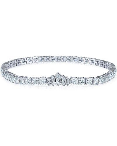 Серебряная диадема с бриллиантом круглая Kwiat