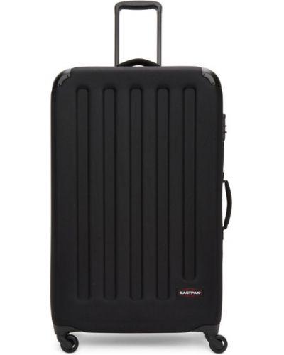 Włókienniczy czarny walizka prążkowany przeoczenie Eastpak