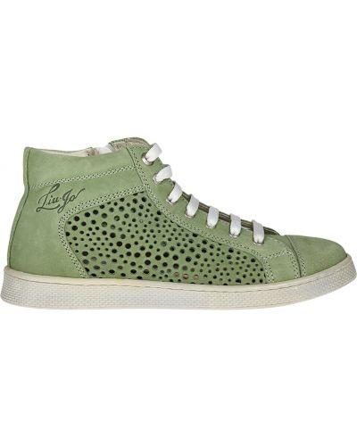 Кеды кожаный зеленый Liu Jo