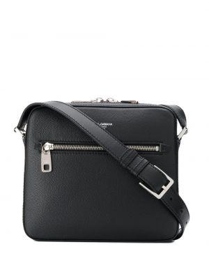 Кожаная сумка - черная Dolce & Gabbana