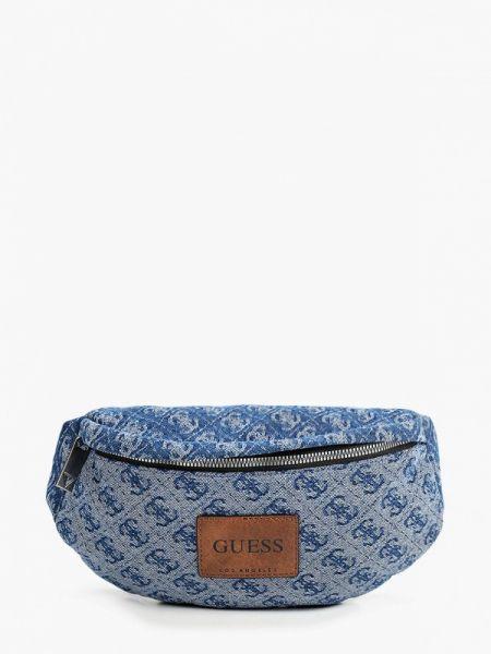 Поясная сумка синий Guess