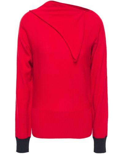 Prążkowany ażurowy sweter wełniany Cedric Charlier
