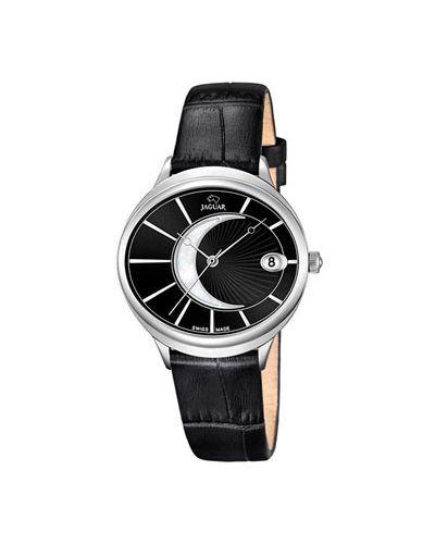 Часы на кожаном ремешке кварцевые швейцарские Jaguar