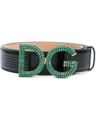 Ремень зеленый черный Dolce & Gabbana