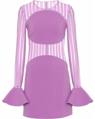 Платье мини с разрезами по бокам из вискозы David Koma