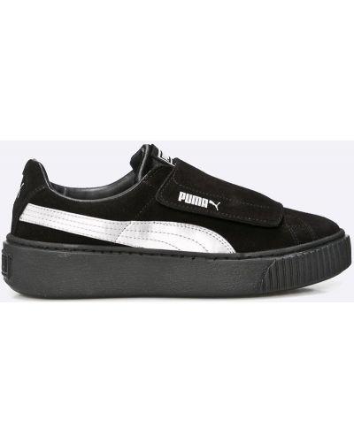 Черные кроссовки на платформе Puma