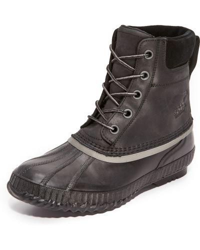 Кожаные черные ботинки на шнуровке Sorel