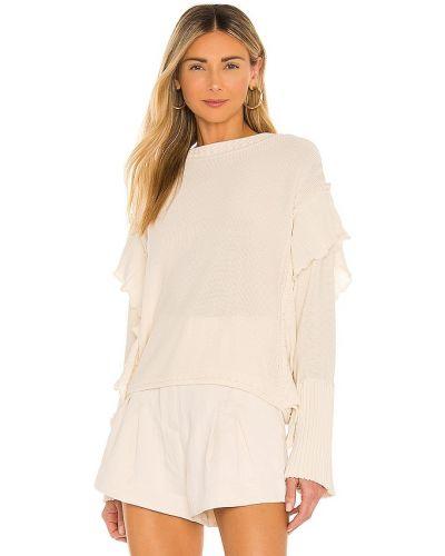 Beżowy pulower bawełniany Rebecca Taylor