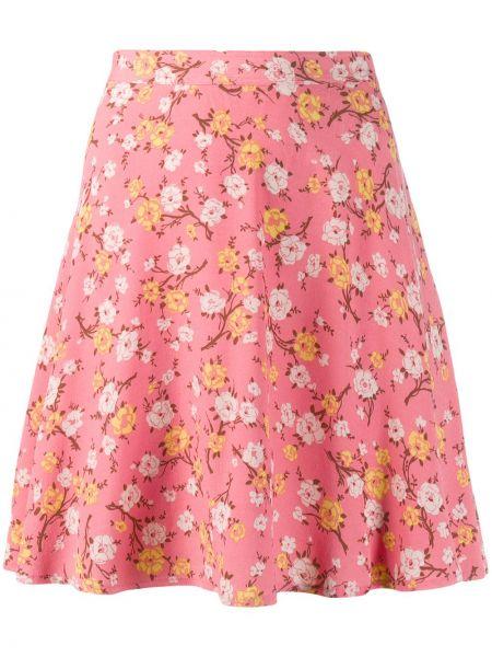 Spódniczka mini w kwiaty - różowa Polo Ralph Lauren