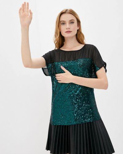 С рукавами зеленая блузка Wallis