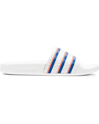 Włókienniczy otwarty biały sandały otwarty palec u nogi Adidas