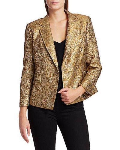 Куртка с подкладкой золотая двубортная Derek Lam