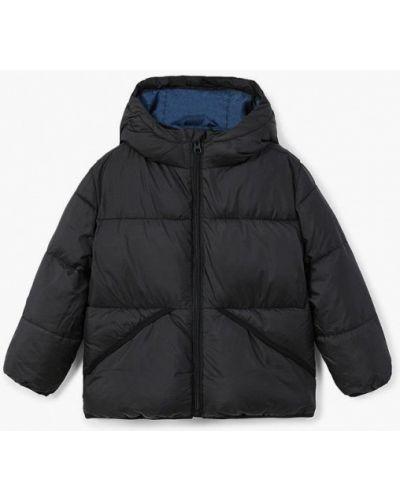 Черная куртка теплая Mango Kids