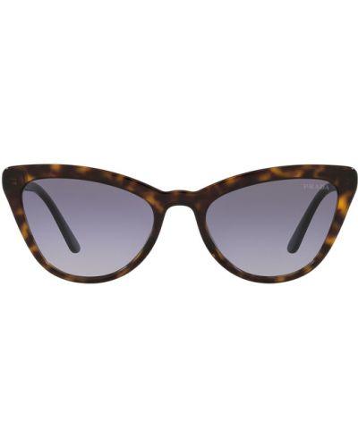 Brązowe okulary Prada