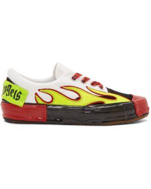 Skórzany sneakersy zamszowe z logo Palm Angels