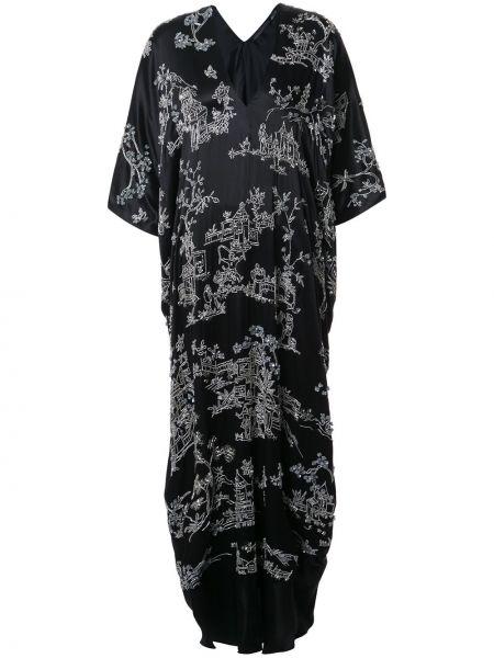 Платье кокон шелковое Josie Natori Couture