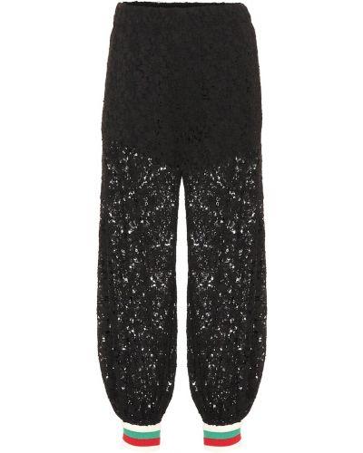 Спортивные брюки из вискозы Gucci