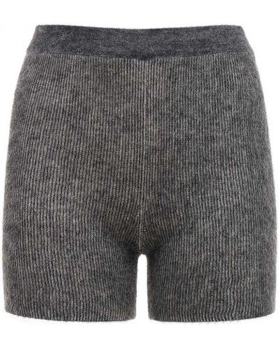 Темно-серые шорты на резинке из мохера Jacquemus
