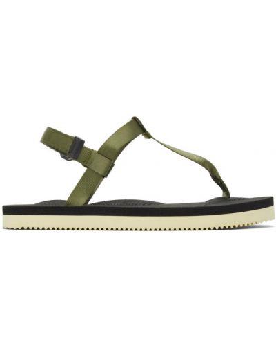 Открытые белые сандалии на липучках Suicoke