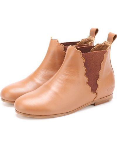 Бежевые ботинки челси Chloé