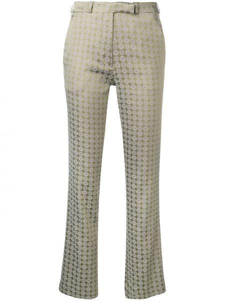 Spodnie z wysokim stanem z kieszeniami z paskiem Etro