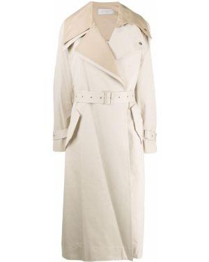 Нейлоновый пальто классическое с поясом с воротником Low Classic