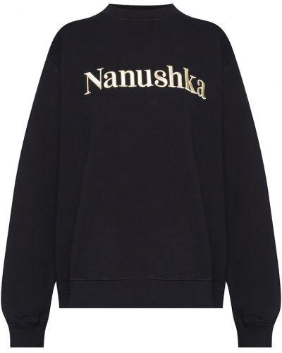 Czarna bluza dresowa Nanushka