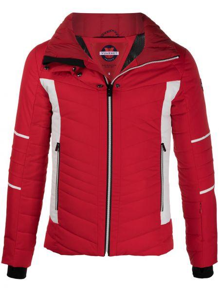 Красная спортивная куртка на молнии с капюшоном Vuarnet