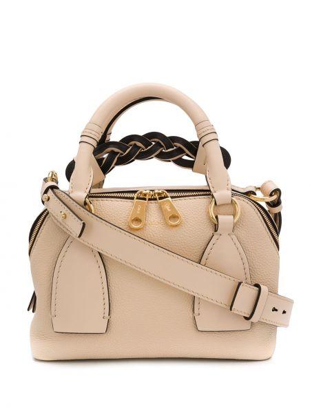 Skórzana torebka na ramię mini Chloe