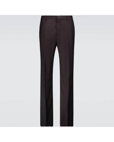 Fioletowe spodnie wełniane Acne Studios