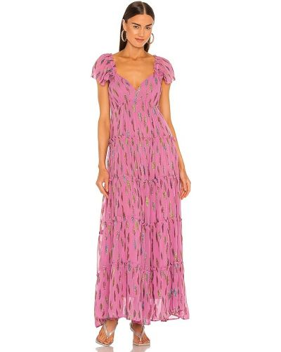Różowa sukienka z wiskozy Saylor