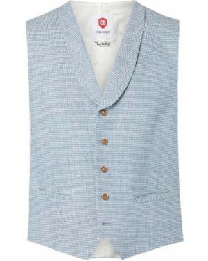 Niebieska garnitur z kamizelką bawełniana Cg - Club Of Gents