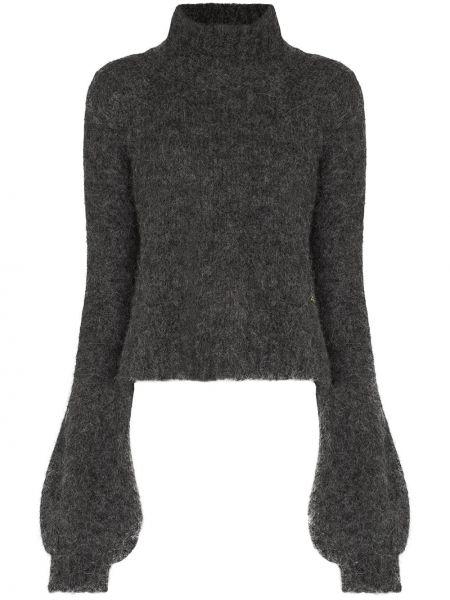 Шерстяной серый свитер с манжетами Jw Anderson