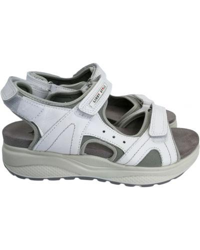 Кожаные сандалии - белые Imac
