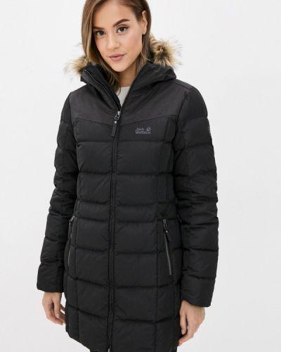Теплая черная куртка Jack Wolfskin