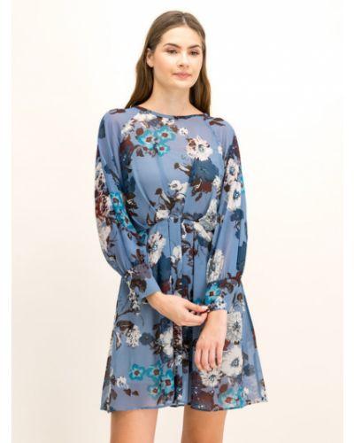 Niebieska sukienka casual Iblues