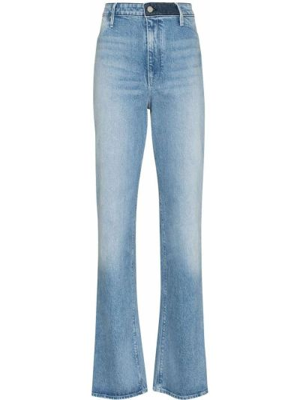 Niebieskie jeansy z paskiem Rta