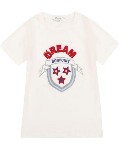 Ватная хлопковая белая рубашка Bonpoint