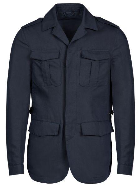 Хлопковый пиджак - синий Corneliani