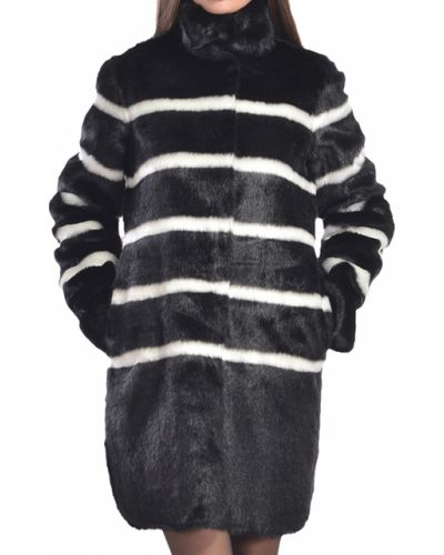 Акриловая черная шуба Armani Jeans