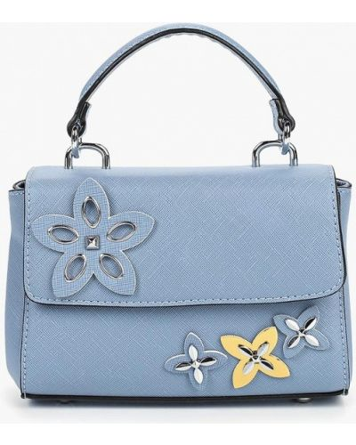 Кожаная сумка через плечо голубой Vitacci