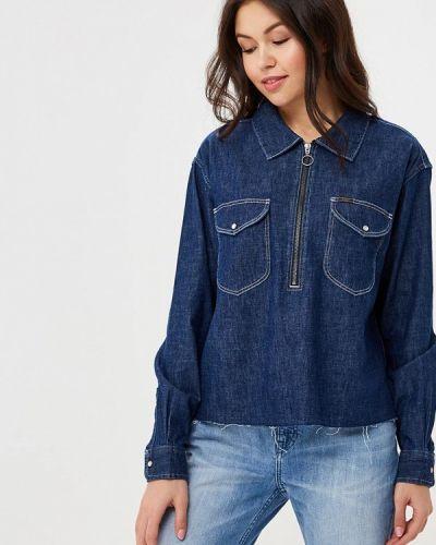 Синяя джинсовая рубашка Lee