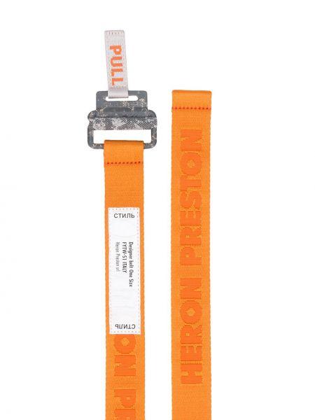 Оранжевый ремень с пряжкой с поясом Heron Preston