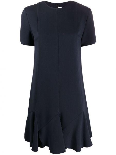 Платье с оборками с рукавами Victoria, Victoria Beckham