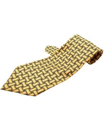 Złoty krawat - żółty Hermès Vintage