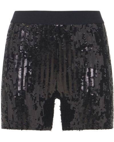 Черные шорты на резинке с пайетками Junya Watanabe