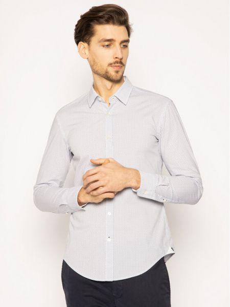 Biała biała koszula Boss